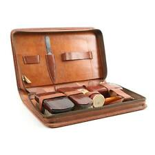 Vintage Gentlemen's Leather Travel Kit w/Accessories Schick Injector Mohawk