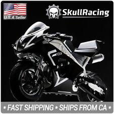 SkullRacing Gas Powered Mini Pocket Bike Motorcycle 50RR (White)
