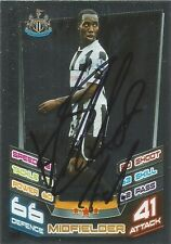 A Topps Match Attax card Vurnon Anita at Newcastle U. Personally signed by him.