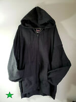 Hanes Mens Ultimate Cotton Heavyweight Full Zip Hoodie. Charcoal Heather - 2XL