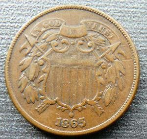 USA 2 CENTS 1865