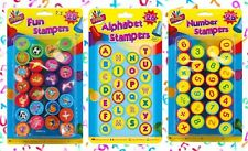 26 KIDS FUN STAMPS Animal Shape/Numbers Children Toy SELF INK Learning Education