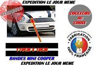 bandes Mini Cooper-bandes capot + notice Autocollant Sticker-couleurs o choix