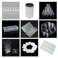 hot sale Nail Art Containers Holder Case Box Rhinestones Brushes Storage Wheel