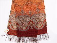 Écharpe femme laine 100% frange soie 60x150 authentique PAVLOVO POSSAD Russie