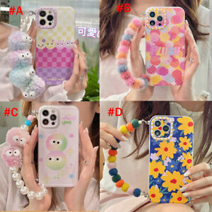 For iPhone 11 12 Pro Max XR XS Max 7 8 Plus Cute Fur Chain Phone Case Cover