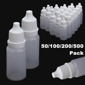50-500Pcs 10ML Empty Plastic Squeezable Dropper Bottles Care Liquid Droppers