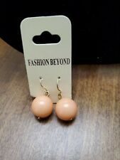 Peach Dangle Ball Earrings