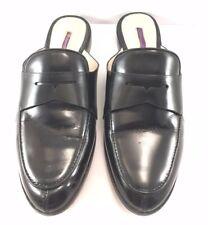 Louise et Cie Black Leather Dugan Flats Mules Womens Size US 8.5M