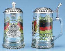 Germany Glass German Beer Stein Mug Pewter Eagle