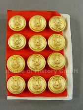 12 Knöpfe LYRA, 16mm, vergoldet, Musiker, Militärmusiker, Uniform, um 1910, S2
