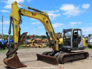 2018 Wacker Neuson ET145 Excavator A/C Cab Aux Hyd Q/C Blade Trackhoe bidadoo