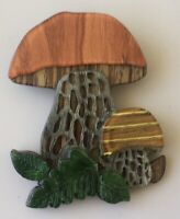 Unique Large Mushroom Brooch In acrylic