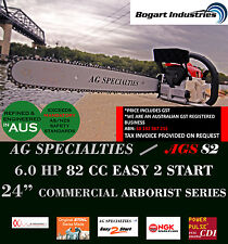 "GENUINE AG SPECIALTIES CHAINSAW 82CC, 24"" ARBORIST, CDI, NGK PLUG, STIHL CHAIN"