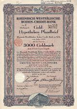 2 Gold-Hypotheken-Pfandbriefe und 1 Aktie von 1930/43
