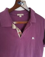 Mens chic BRIT by BURBERRY short sleeve polo shirt size large/medium. RRP£165