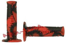 Grip Pair Domino Snake Off-Road L.120 Ø 22/24 Red-Black A26041C96A7