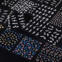30 feuilles 3D Stickers autocollant d'ongle decoration d'ongle Nail Art coule R1