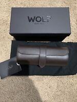 WOLF Blake Travel Watch Roll Case - Brown 305606 GET IT FAST ~ US SHIPPER