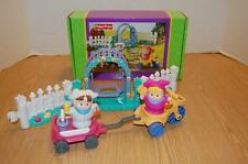 FISHER PRICE LITTLE PEOPLE COMPLETE EASTER EGG HUNT PLAY SET - 2003 - EUC~~