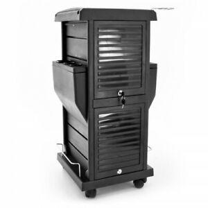 Barber Salon Hairdressing Beauty Salon Lockable Trolley Storage