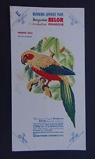 BUVARD margarine BELOR perruche soleil Oiseau Vogel bird Löscher blotter