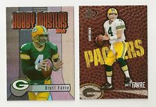 2003 TOPPS HOBBY MASTERS BRETT FAVRE CARD #HM3 & 2004 PLAYOFF CARD #35 LOT OF 2