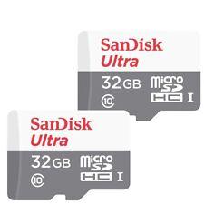 2x 32GB SanDisk  Ultra 80MB/s Class 10 UHS-I Micro SD SDHC Memory Card SDSQUNS