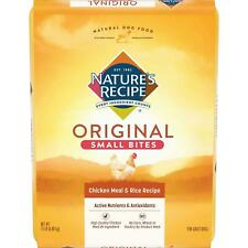 Nature'S Recipe Adult Dry Dog Food Small Bites Chicken Meal & Rice Recipe-15 lb