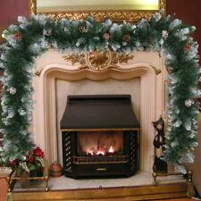 2.7M Weihnachtsgirlande Innen Außen Weihnachtendeko Künstlich Tannengirlande