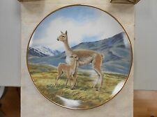 1991 Bradford Exchange THE VICUNA Endangered Species Plate by Will Nelson