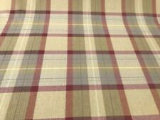 prestigious red tartan munro check curtain blind upholstery fabric quality
