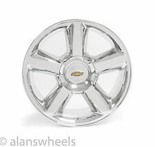 "4 NEW Chevy Silverado Avalanche LTZ Chrome 20"" Wheels Rims Gold Bowtie 5308"