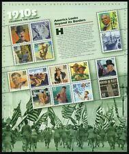 Celebrar el siglo década de 1910 Hoja de quince 32 Centavos Estampillas Postales Scott 3183