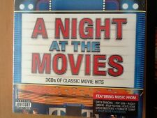 A. NIGHT. AT  THE. MOVIES. 3 CDs.  Classic Movie Hits.