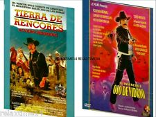 2 dvd     TIERRA DE RENCORES    /   El Invencible Ojo De Vidrio     NEW DVD