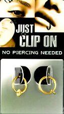 Test Fake Piercing Ring clip on 8 mm 2 x gold Lippen Nase Ohr Intim 90009