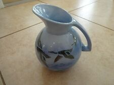VTG made in England Misty Morn Falcon Ware Falconware Blue Flying Ducks Pitcher