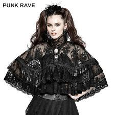 SALE Punk Rave Victorian Gothic Lolita Lace Cape Shirt Cloak Flower Mesh Fabric