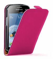 ULTRA Sottile Pelle Rosa Case Cover per Samsung Galaxy S Duos GT-S7562 +2 PELLICOLE