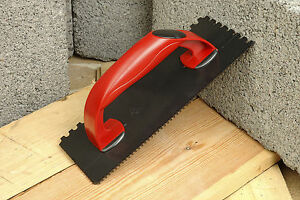 Linic RED Tiling Grout Float Tilers Grouting Notched Comb 270mm x 110mm S7181