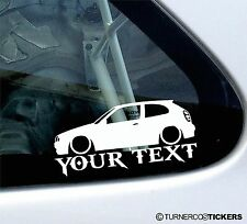 Custom, your text 'Toyota Corolla G6 E11 hatch 3-Dr outline sticker, decal