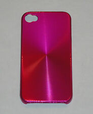 Hot Pink Aluminum Metal Hard Case for Apple iPhone 4 4S