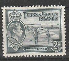 1938 TURKS AND CAICOS ISLANDS 2d DEFINITIVE. SG 198 M/MINT