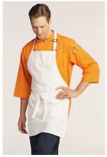 "Bib Apron, 2 Pockets, Adjustable Neck, Color: White, Size: 23""W x 30""L - 3016"