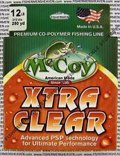 McCoy Fishing Line CoPolymer Xtra Clear 250 Yard Spool 12LB Test