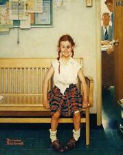 Girl With Black Eye Norman Rockwell Art Painting Rockwellian Painter Print 3256