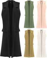 Polyester Collared Casual Waistcoats for Women