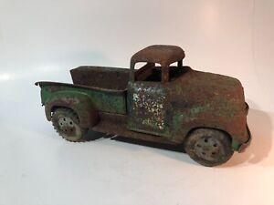 "Vintage Green Tonka Step Side Pickup Truck Used 12"" Long See pics"