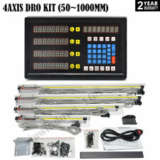 4axis Digital Readout Dro Display4pc Ttl Linear Glass Scale Encoder 5m Milling